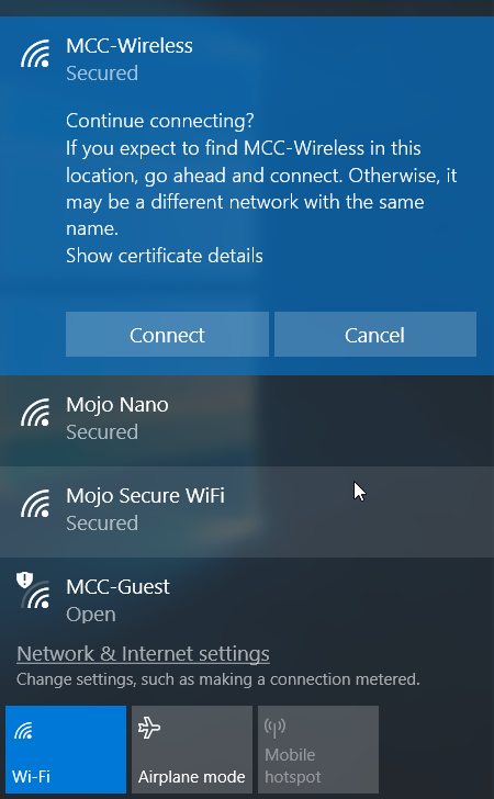 MCC Wireless Help